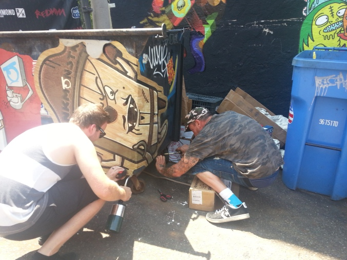 Dumpster Art with Nick Hughes from InkMonstr