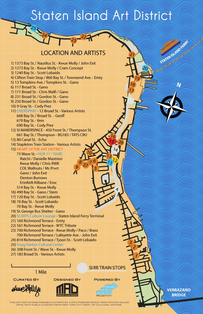NorthShore Art DIstrict PRINT MAP